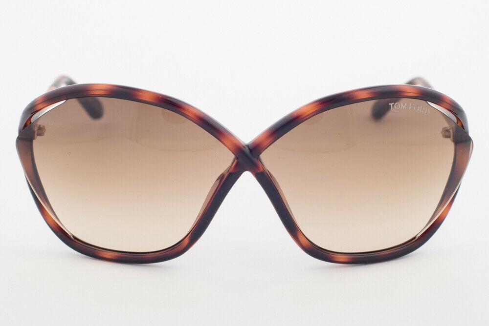 Tom Ford BELLA Blonde Havana & Gold / Brown Gradient Sunglasses TF529 53F BELLA