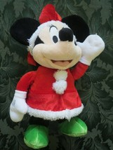 "Dan Dee Disney Minnie Mouse Musical Dancing Light Up Christmas 13"" Plush... - $15.59"