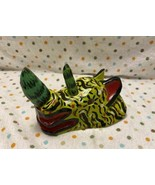 Hand Carved Wood Whimsical Colorfully Painted Rhino Head - $24.00