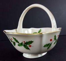"LENOX China Holiday Dimension Small Basket 4-1/2"" Across Dinnerware image 3"