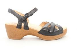 Dansko Season Full Grain Wedges Sandals Black  EU 40  () - $99.00
