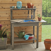 Cane Bay Outdoor Potting Bench Sturdy Durable Work Space Outdoor Heavy D... - $171.88 CAD