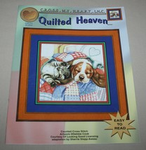 Quilted Heaven Cross My Heart CSB-275 Cross Stitch Pattern Booklet Cat P... - $8.42