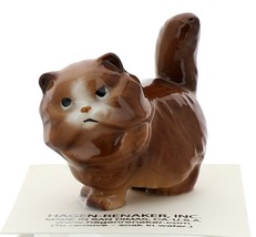 Hagen-Renaker Miniature Ceramic Cat Figurine Fat Red Persian