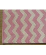 Hand Tufted Chevron Zig Zag Pink 6' x 9' Contemporary Woolen Area Rug Ca... - $479.00