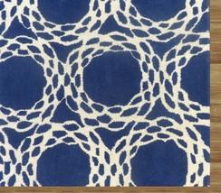 Hand Tufted Arabesque Blue 9' x 12' Contemporary Woolen Area Rug Carpet - $799.00