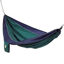 Hammaka Lightweight, Parachute Silk Hammock Swing, Blue & Green 955-1020... - $49.65