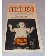 Vintage Halloween Paper Ehemera Wernco News 1945 Girl with JOL - $7.95