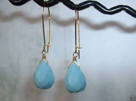 BLUE QUARTZ Gold Earrings 303 - $12.38