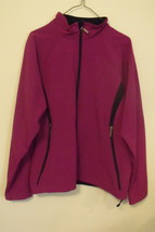 Womens North End NWT Plum Rose Black Trim Long Sleeve Full Zip Jacket Si... - $19.95