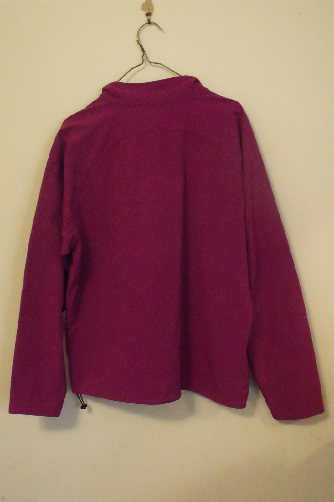 Womens North End NWT Plum Rose Black Trim Long Sleeve Full Zip Jacket Size L