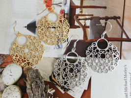 Baroque Style Round Chandelier EARRINGS SILVER or GOLD  - $23.79