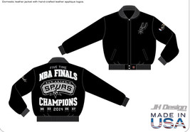 JH Design  - NBA San Antonio US made Leather Champions Jacket - $584.09
