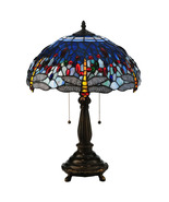 "Meyda Home Indoor 22""H Tiffany Hanginghead Dragonfly Table Lamp - 1235-119650 - £212.02 GBP"