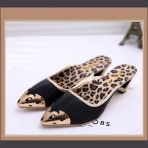 Low Elegant Pointed Toe Fluer De Gold Glitter Slippers in Blue Black or Gold image 6