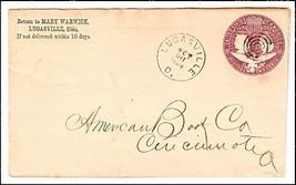 1883 Lucasville OH Vintage Post Office Postal Cover - $9.95