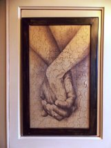 """Wedding Guest Book Alternative Wood Puzzle """"Hand-n-Hand"""" Large 151 piece - $325.00"""
