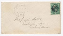 1881 Billerica MA Vintage Post Office Postal Cover - $9.95