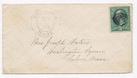 1881 Billerica MA Vintage Post Office Postal Cover - $9.95