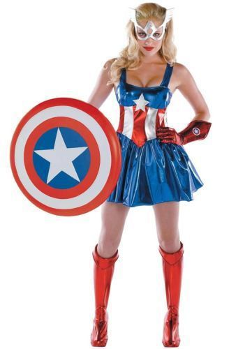 Adult Sassy Captain America Costume Disguise 50260