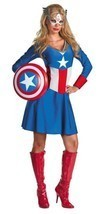 Adult Sassy Captain America Costume Disguise 50260 - £38.22 GBP