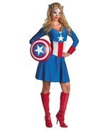 Adult Sassy Captain America Costume Disguise 50260 - $934,32 MXN