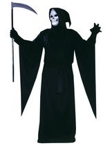 Plus Size Adult Grim Reaper Halloween Costume - £29.34 GBP
