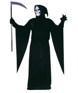 Plus Size Adult Grim Reaper Halloween Costume - £29.77 GBP