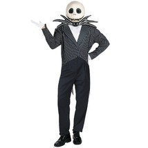 THE NIGHTMARE BEFORE CHRISTMAS JACK SKELLINGTON DELUXE ADULT HALLOWEEN C... - £70.74 GBP