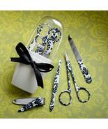 75 Pretty Black Damask Manicure Sets Wedding Fa... - $138.58