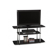 Black TV Stand Living Room Furniture Entertainment Center Home Media Sto... - $96.92