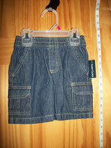 Faded Glory Baby Clothes 18M Infant Girl Cargo Shorts Blue Denim Pull-up Bottoms - $9.49