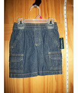Faded Glory Baby Clothes 18M Infant Girl Cargo Shorts Blue Denim Pull-up... - $9.49