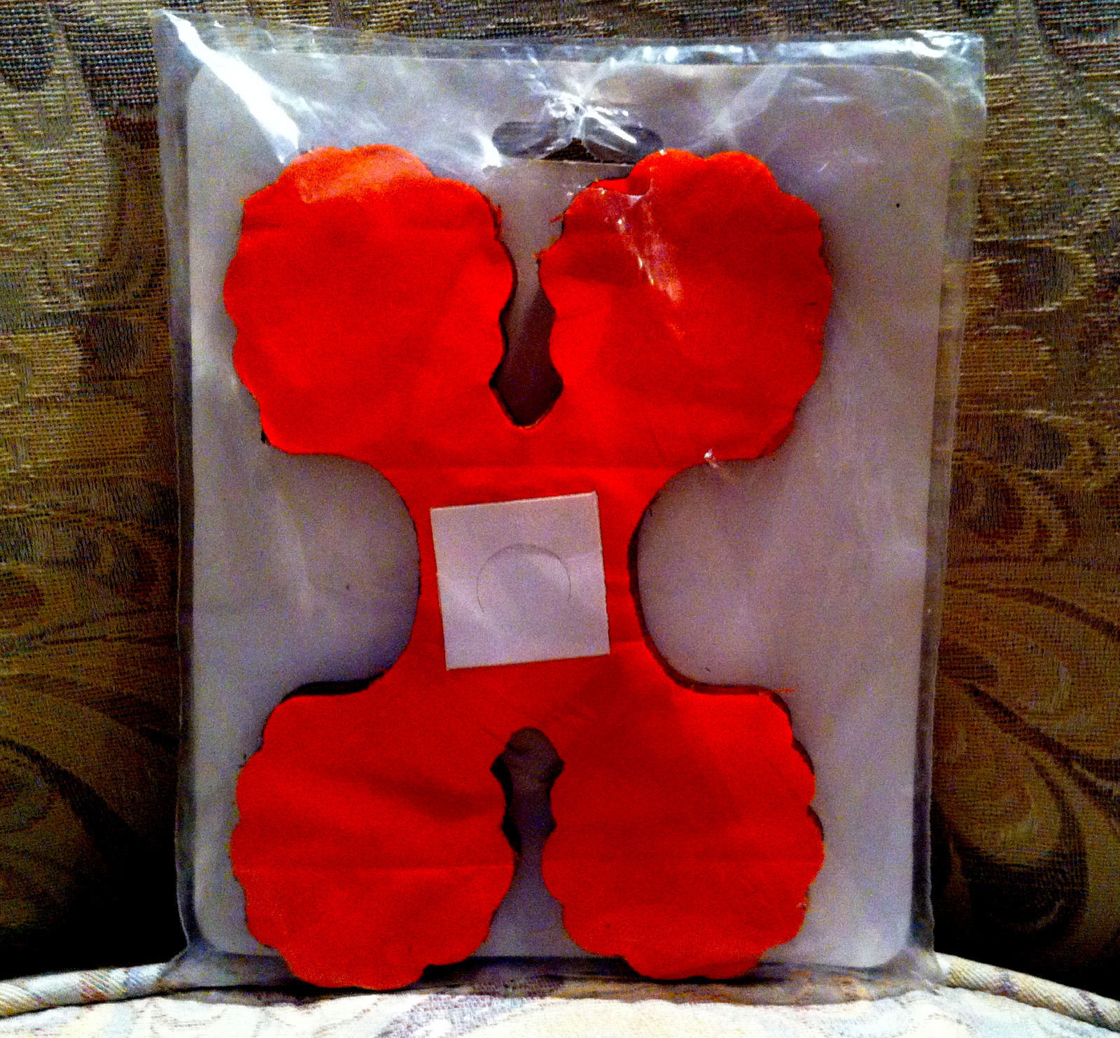 Vintage beistle leaf garland 3d tissue decoration orange Vintage halloween decorations uk