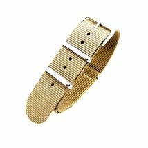 20mm X 255mm Nato Canvas Nylon wrist watch Band strap BEIGE P2 - $10.42