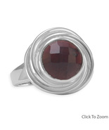 83498 faceted garnet button ring thumbtall