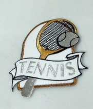 1 PC  HANDMADE SEWN BADGE GARMENT CRAFT EMBROIDERY  IRON ON PATCH TENNIS... - $3.50