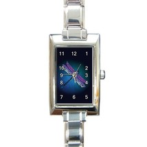 Ladies Rectangular Italian Charm Watch Unique Dragonfly Gift model 32879301 - $11.99