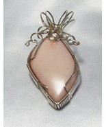 Jewelry By Two Gems (WP84)Sterling Silver Wire Wrap Pendant w Pink Opal ... - $60.00