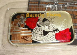 Barrely Living ART OF DYING Enameled 1oz Silver Art Bar Limited COA VERS... - $128.69