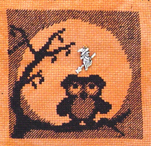 Ooolee In The Moon with Charm cross stitch chart Handblessings - $6.00
