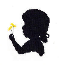 Girl With Dandelion cross stitch chart Handblessings - $6.00