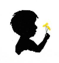 Boy With Dandelion cross stitch chart Handblessings - $6.00