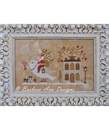Santa, The Dove and The Key cross stitch chart Barbara Ana Designs - $9.00