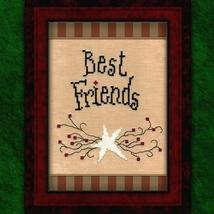 Prim Best Friends cross stitch chart Carousel Charts - $8.10