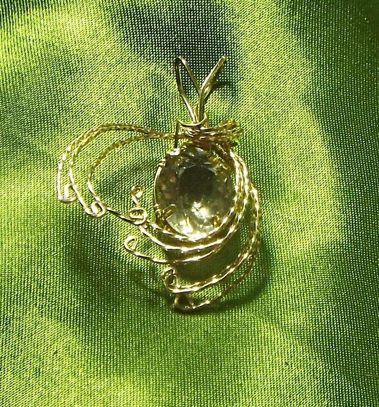 Jewelry By Two Gems (Wp69)14KT Gold FilledWire Wrap Faceted Lemon Quartz