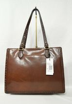 NWT Brahmin Medium Camille Leather Tote/Shoulder Bag in Cognac Quincy image 5