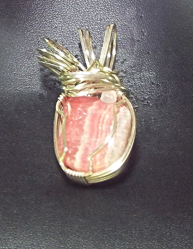 Jewelry By Two Gems (Wp35) Sterling Silver Wire Wrap Pendant