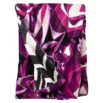 missoni for target bathroom bath towel passione purple black floral
