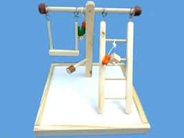 Bird toy play gym,play pen-with swing-toys-and ladder - £16.97 GBP